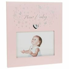 "Star Cluster New Baby Frame 5.5""x3.5"" Girl Baby or Christening Gift"