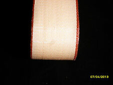 Lawn chair webbing, 72ft, new, pinkish with maroon edge,  FREE shipping