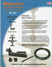 GF-211 - WaterLev Fountain fill kit Stetson ~~Simply attach your garden hose!~~