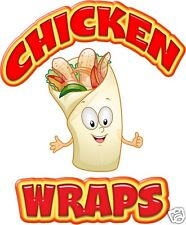 "Chicken Wraps Decal 14"" Sandwich Concession Van Food Truck Food Vinyl Menu Signs"