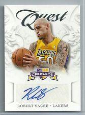2012-13 Crusade Basketball Robert Sacre Quest Autographed Card