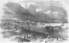 UKRAINE. Sevastopol, sketched from the Constantine, antique print, 1854