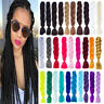 24'' Multi Color Ombre Synthetic Jumbo Braiding Hair Extension Afro Twist Braids