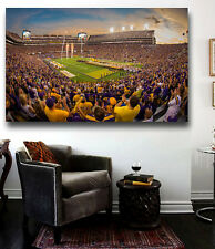 LSU  Football Stadium Gorgeous Canvas Print Tiger Stadium 30 x 20 LSU Tigers