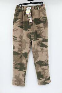 NWT Cabela's men's M outfitter's fleece windshear camo pants lined green hunt