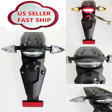 LED Universal Motorcycle Rear Fender Mudguard Stop Tail Light for Yamaha Honda