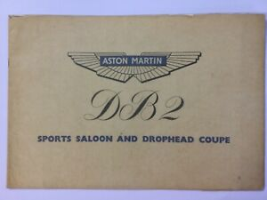 Aston Martin Sports Saloon and Drophead coupe DB2 1950 brochure