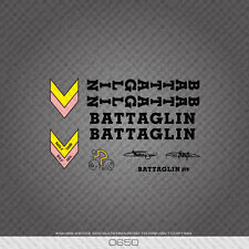 0650 Battaglin Bicycle Stickers - Decals - Transfers - Black