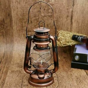 Retro Oil Lantern Vintage Kerosene Paraffin Hurricane Light Outdoor Camping Lamp
