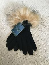 NWT Ralph Lauren Touch Gloves Fur Cuff Size L M7