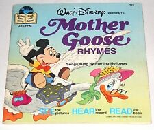 Walt Disney Presents Mother Goose Rhymes & Record 1979