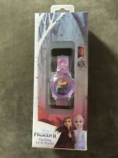 NWT Disney Kid's Frozen Light Up LCD Watch FZN1615BX Purple PLASTIC BAND