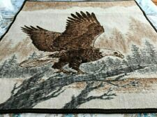 "Biederlack Throw Lap Blanket Eagle Brown 48"" X 56"" Acrylic Blend USA"
