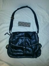 Liz Claiborne Black Crossbody Messenger Bag Large EUC w/ FREE Magnetic Eye Glass