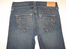 True Religion Jeans Billy Bootcut Stretch Dark Distressed Little Girls Sz 12