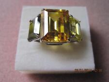 CHIMENTO ITALY 33.65 ctw CUBIC ZIRCONIA NEW Stainless RING Orig $119.00 Size 7
