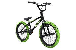 "BMX Freestyle 20"" 23 Circles Kinderrad 4 Pegs 360 Rotor schwarz-grün 670B"