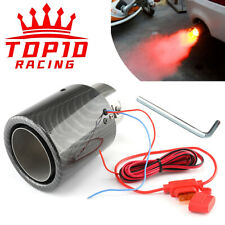 ⭐Red / Blue Flame Carbon Fiber LED Exhaust Tip Racing Car Tail Pipe Muffler⭐
