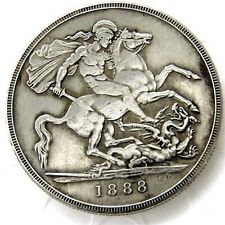 Queen Victoria Dei Gratia Crown Jubilee Bust 1888/St. George and Dragon