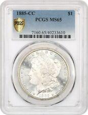 1885-CC $1 PCGS MS65 - Lustrous Gem! - Morgan Silver Dollar - Lustrous Gem!