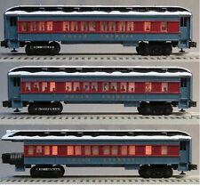 LIONEL POLAR EXPRESS PASSENGER CARS SET OF 3 train coach puppet snow 6-84328 NEW