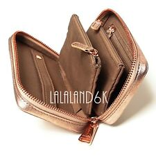 FOSSIL HAPPY ROSEGOLD LEATHER JEWELRY RING EARRING PURSE TRAVEL CASE ORGANIZER