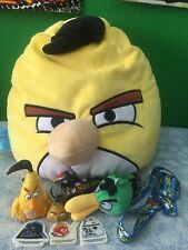 Angry birds Lot McDonald Toy, Plush, Keychains, Star Wars erasers, pillow 14""