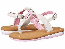 Cobian LILAH Girls Toddler Strap Flip-Flop Sandals Size 5/6 Silver NEW