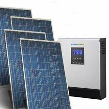 Kit Casa Solare Base 1,120kW 24V Inverter 3000W Impianto fotovoltaico accumulo