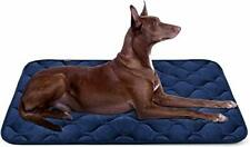 Large Dog Bed Mat 42 Inch Crate Pad Anti Slip Mattress Washable for Pets Blue