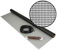"""Insect Screen Wire 36"""" x 7 ft Mesh Roll Kit w Spline for Window Door Porch Patio"""