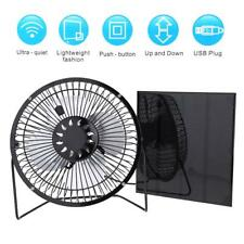 """4.5W 6V Solar Panel + 6"""" USB Cooling Fan Home Car Outdoor Camping Ventilation"""