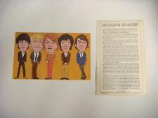 Rollings Stones (60's ) Rare 8x5 rock card 1979
