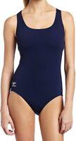 Speedo Women's Swimwear Navy Blue Size 14 One Piece Endurance+ Solid $78 #565