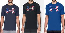 Under Armour Mens American Big Flag Logo USA T-Shirt  - XL & Large - NWT