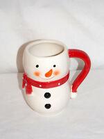 New 16oz Holiday Christmas Snowman Coffee Mug Tea Cup Ceramic