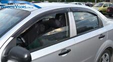 Window Visors WeatherShields 4pcs weather shields Holden Barina Sedan TK 2005-12