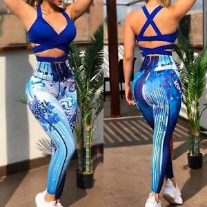 Colombian Brazilian Women's Set Tights Top Microfiber S M Activewear Gym Yoga