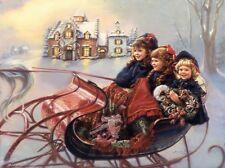 Sandra Kuck WINTER WONDERLAND 16x20 open edition Christmas sleigh OUT OF PRINT