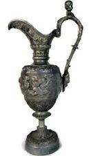 Art Nouveau Pewter Pitcher Urn Vase Victorian Cherub Ewer