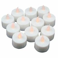 12 pcs LED Tea Lights Battery Operated Candles for Party Decoration Y4E1