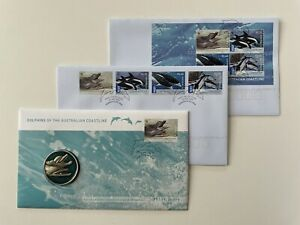 2009 Australia Dolphins of the Australian Coastline PNC Medallion + FDC's