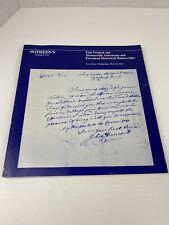 Sothebys Catalogue Printed Manuscript Americana European History 1984