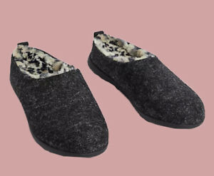 Ex M*S Felt Mule Slippers with Secret Support Size 4 - 8