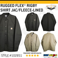 Carhartt Men's Rugged Flex Rigby Shirt Jacket Fleece Lined Heavyweight #102851