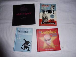 Job Lot 4 Books - Humour, Adult Origami, Senior Moments & Baldness Fun Presents