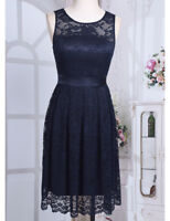 Women Lace Short Dress Ball Gown Prom Evening Party Bridesmaid Wedding Cocktail