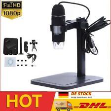 Kamera+Lift Stand USB 1000X 8LED 2MP Digitalmikroskop Microskope Lupe Fach PC HD