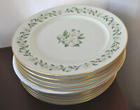 "Set of 4 Princess China Bridal Wreath Pattern 10 3/8"" Dinner Plates CHEAP NICE!!"