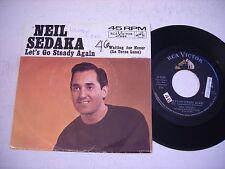 w PICTURE SLEEVE Neil Sedaka Let's Go Steady Again 1963 45rpm VG++